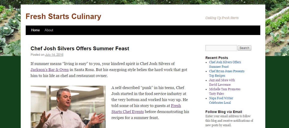 Fresh Starts Culinary blog
